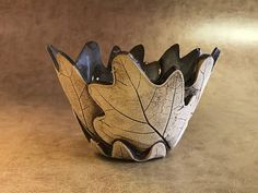 Small Oak Leaf Bowl 14 Related Post Apparently, if put in a small container,they will . leaf pattern design planters The Doll House, a lovingly-restored small farmhous.Small Oak Leaf Bowl wrap clay around the bottom of a drink glass. Hand Built Pottery, Slab Pottery, Pottery Bowls, Ceramic Pottery, Pottery Art, Thrown Pottery, Clay Art Projects, Ceramics Projects, Ceramic Clay