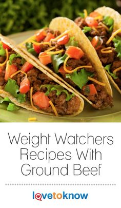 Hungry Girl's Crunchy Beef Tacos With Side Salad: Looking to satisfy your crunchy craving? Hungry Girl Diet, Hungry Girl Recipes, Batch Cooking, Cooking Recipes, Healthy Recipes, Protein Recipes, Tacos Mexicanos, Eating Tacos, Flautas