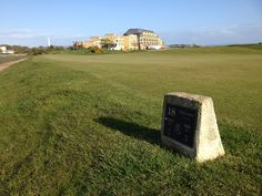 18th tee, 17th green and Old Course Hotel at St Andrews Old Course - #18TheLastTee - love it