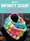 I designed this fun and colorful infinity scarf with the basic crochet stitches: chain, single crochet and double crochet; so even the beginner crocheter can hook this one up! You could easily change this infinity scarf into a cowl, by using only one skei Basic Crochet Stitches, Crochet Basics, Easy Crochet Patterns, Crochet For Beginners, Crochet Designs, Scarf Patterns, Crochet Ideas, Beginner Crochet, Stitch Patterns