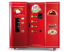 Máquina expendedora de pizza hecha al momento.