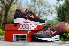 ac7f252a1b1b Welcome to our factory Nike shop - Cheap Nike Air Max 90 Sale - Air Max 90  Men Cheap - Nike Air Max 90 Black Red White Men