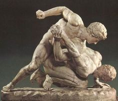 The Wrestlers (also known as The Two Wrestlers, The Uffizi Wrestlers or The Pancrastinae) is a Roman marble sculpture after a lost Greek original of the third century BCE. It is now in the Uffizi collection in Florence, Italy.