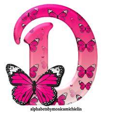 Alphabets by Monica Michielin: ALFABETO BORBOLETA ROSA, PINK BUTTERFLY ALPHABET Alphabet Letters Design, Flower Alphabet, Flower Letters, Alphabet Art, Animal Alphabet, Alphabet And Numbers, Fancy Letters, Pink Wallpaper Iphone, Butterfly Wallpaper