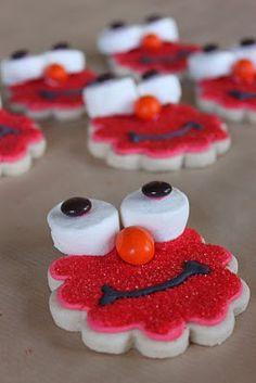 elmo decorated cookies