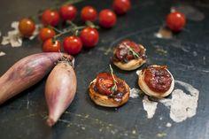 Mini Puff Pastry Tomato Tarts