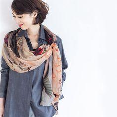 We love how kokoed.jp wears Bella Ballou #scarf #fun #accessory #fashion #print
