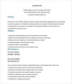 microsoft high school teacher resume template doc a successful resume template open office for job seeker resume is an important document that - First Time Teacher Resume