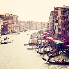 This Morning's Daydream:  Waking up in Venice and spending the whole day site seeing and eating gelato.