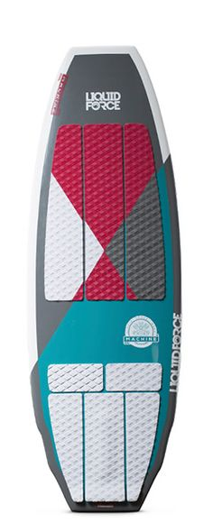 Race down the line with ease on this MACHINE! With a double wing squaretail shape, The MACHINE is able to project and pivot on a dime giving you one very playful surfer. 3 sets of fins are included to give you maximum versatility and performance. Ride it as a quad for solid drive and thrust out of the wake, as a tri-fin for tight and positive control, or as a twin fin for that loose, easy going feel.