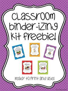 Free} Teacher Binder Covers | K-1 Teacher Co-Op! | Pinterest ...