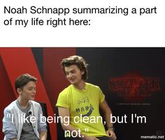 <<<< Yet another moment of the cutest person alive summarizing my life Stranger Things Actors, Stranger Things Have Happened, Stranger Things Aesthetic, Stranger Things Funny, Stranger Things Netflix, Really Funny Memes, Stupid Memes, Funny Relatable Memes, Haha Funny