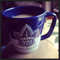 Morning coffee on game day Go Leafs Go Tea And Books, Toronto Maple Leafs, Morning Coffee, Leaves, Mugs, Game, Tableware, Breakfast, Dinnerware