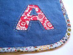 reverse applique napkin tutorial