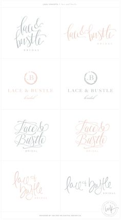 Brand Launch: Lace & Bustle Bridal | Brand Concepts by Salted Ink | Hand Lettered, Modern Calligraphy, Brush Pen, Hand Drawn Logo | www.saltedink.com