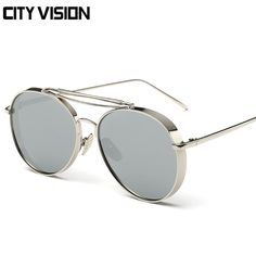 High Quality Stylish Metal Thick Frame Women Sunglasses With Low Price WDSG113