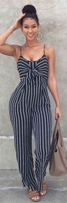 from the bun and big hoops to the jumpsuit and tote. from the bun and big hoops to the jumpsuit and tote. Casual Outfits, Summer Outfits, Casual Dresses, Jumpsuits For Sale, Party Skirt, Mode Style, African Fashion, Casual Looks, Clothes