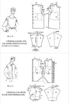 앨범 보관함 Bodice Pattern, Suit Pattern, Bag Pattern Free, Pattern Drafting Tutorials, Sewing Patterns, Mermaid Dress Pattern, Shirt Collar Pattern, Sewing Techniques, Album
