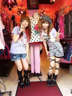 Harajuku street fashion   Gyaru shopping