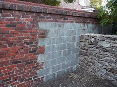 For The Shed In The Back Yard   Paint A Concrete Blocks To Look Like Brick
