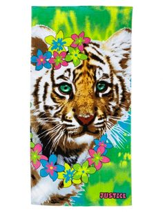 Photoreal Tiger Beach Towel | Girls Fashion Bags & Totes Accessories | Shop Justice