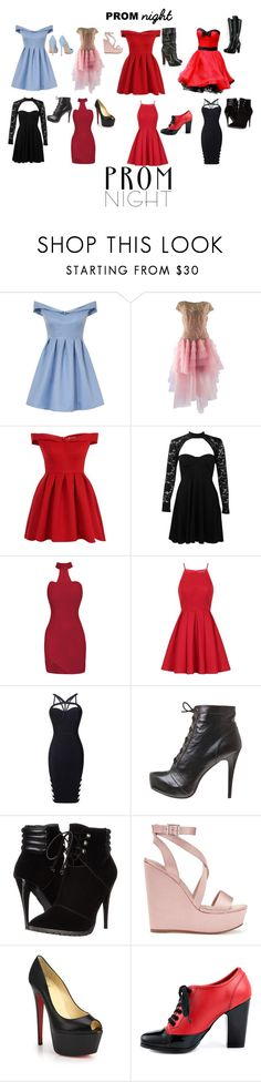 """""""Prom Night #3"""" by queenharley666 ❤ liked on Polyvore featuring Chi Chi, Bruce Oldfield, Boohoo, C Label, Miss Selfridge, Christian Louboutin, Kelsi Dagger Brooklyn and Gianvito Rossi"""