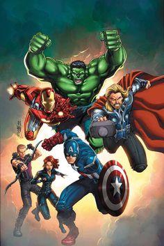 #Avengers #Fan #Art. MARVEL UNIVERSE AVENGERS: EARTH'S MIGHTIEST HEROES #2 Cover) By: ADAM DEKRAKER.