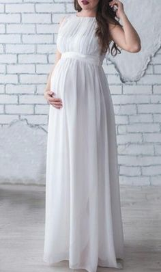 $33.84 | This beautiful white maternity gown is perfect for your maternity photoshoot! | Maternity photo session | Maternity dress | maternity fashion | maternity clothes | pregnancy fashion | pregnancy clothes | bump style | maternity outfit | maternity | #affiliate