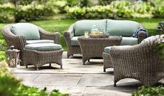 Outdoor Wicker Seating Set - The Hawaiian Home