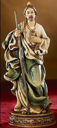 "Amazon.com: 6"" Saint St. Jude Religious Statue Gifts of Faith Bellavista Milagros: Everything Else"