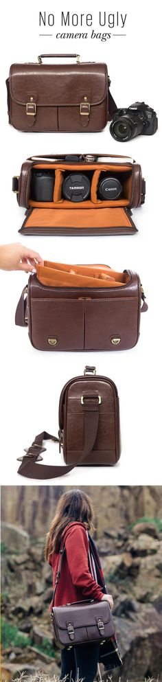 Stylish Vintage Style camera bags - perfect for travelling and protecting your camera gear.
