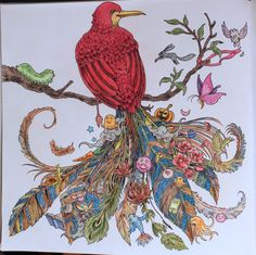 -Animorphia-polychromos, multicolor og fleirri trélitir.