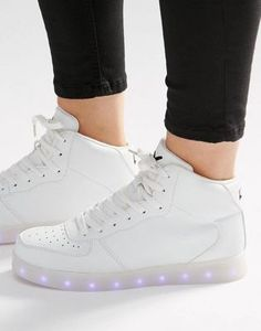 Wize & Ope Light Up Sole Hi Top Sneakers