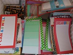 Note pads galore for my life Binders & Projects! Love them! I will release a video on all these in the near future once it's all done so stay tuned!
