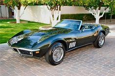 Fathom Green 1969 Chevrolet Corvette Stingray Convertible L89 427 Tri-power #CorvetteStingray
