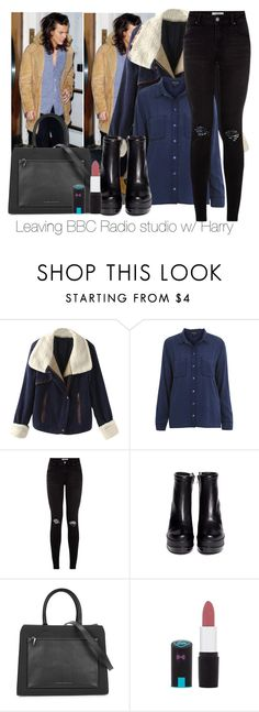 """Leaving BBC Radio w/ Harry"" by edna-loves-1d ❤ liked on Polyvore featuring Topshop, Robert Clergerie and Victoria Beckham"