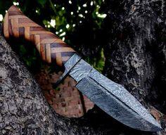 Damascus Wild Hunter Knife Damascus Sword, Damascus Knife, Damascus Steel, Wild Hunter, Handmade Knives, Wood Sizes, Blacksmithing, Bowie, Ebay