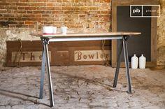 La console Jetson è un pezzo di arredamento esteticamente notevole che unisce stile Industrial e linee decise. Teak, Consoles, Loft Stil, Shabby, Style Vintage, Ping Pong Table, Metallica, Entryway Tables, House Plans
