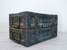 vintage industrial 1940s metal ammunition crate with by epochco, $60.00