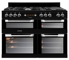 leisure Cuisinemaster Dual fuel range cooker black CS110F22K 110cm
