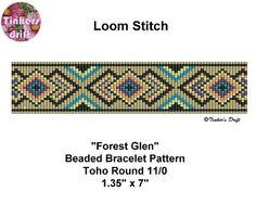 Forest Glen Loom Beaded Bracelet Pattern Round by TinkersDrift