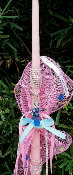 Pink candle with Judy Hops from Zootopia Judy Hops, Pink Candles, Zootopia, Dream Catcher, Easter, Home Decor, Dreamcatchers, Decoration Home, Room Decor