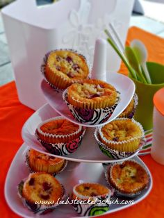 rice muffins with rasperries