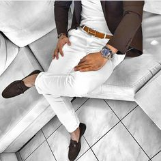 Love white trousers in summer