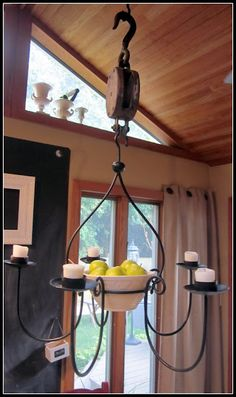 Rustic Pulley Frame Hanger With Rope Pbkids Selecting To