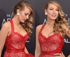 """Blake Lively in one side braid & loose hair curls on the other side hairstyle at """"the age of adaline"""" Premiere 2015."""