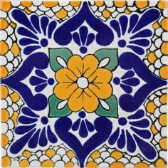 """Polanco Terra Nova Mediterraneo Ceramic Tile 2x2"""" $2.65"""
