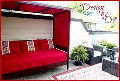 Outdoor daybed with canopy from Design by D9
