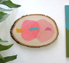 log slice painting by Jenn Smith