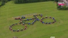 Tour de France 2012 Field Art - apparently many are organized by Farmers' Unions who send the GPS coordinates to the TV crews so that they're not missed!